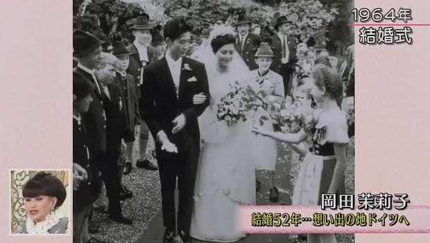 岡田茉莉子と吉田喜重の結婚式画像