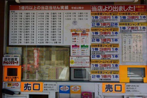 北海道旭川宝くじ売り場「堂前宝くじ店」